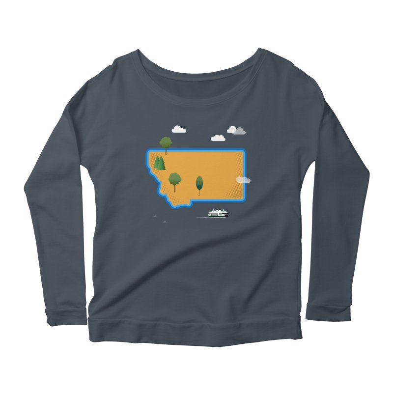 Montana Island Women's Longsleeve T-Shirt by Illustrations by Phil