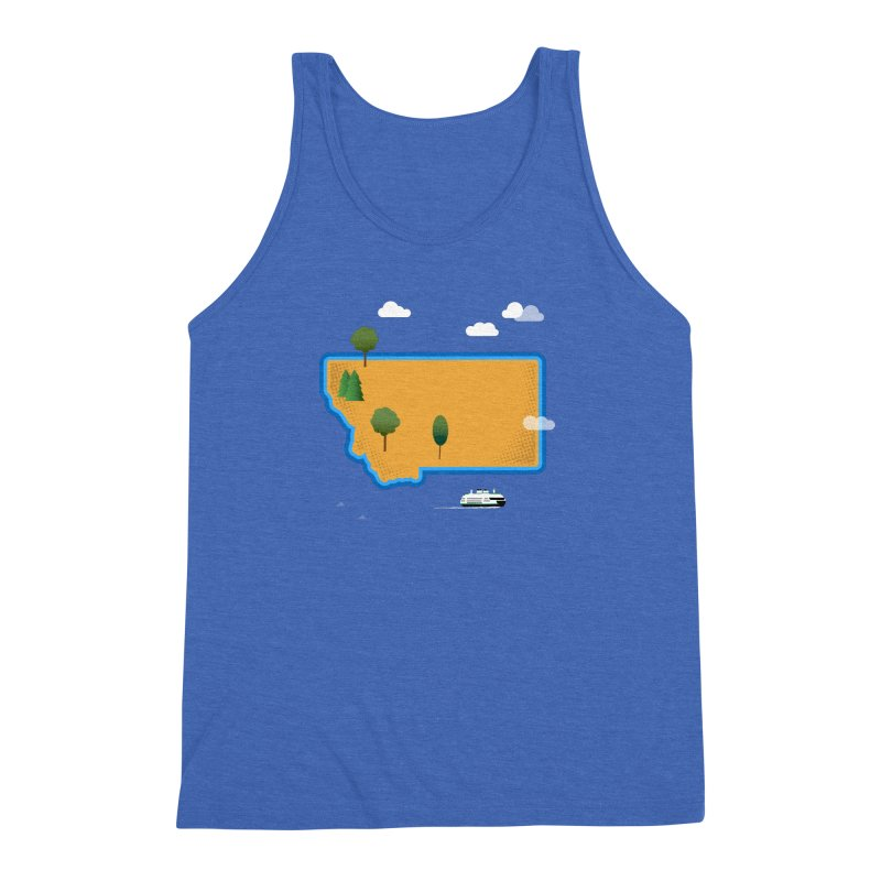 Montana Island Men's Triblend Tank by Illustrations by Phil