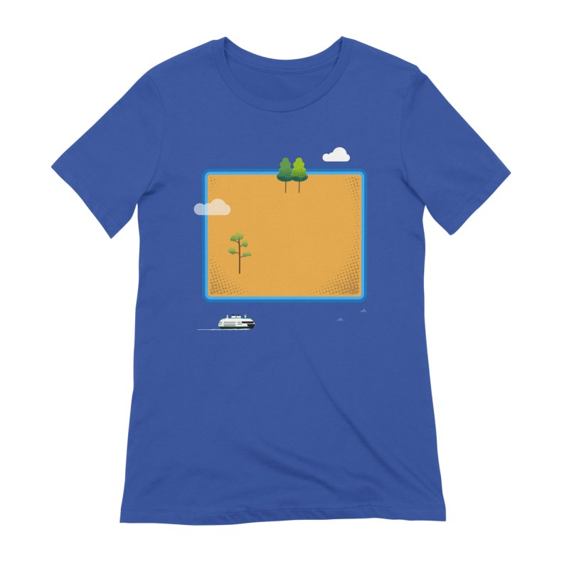Wyoming Island Women's T-Shirt by Illustrations by Phil