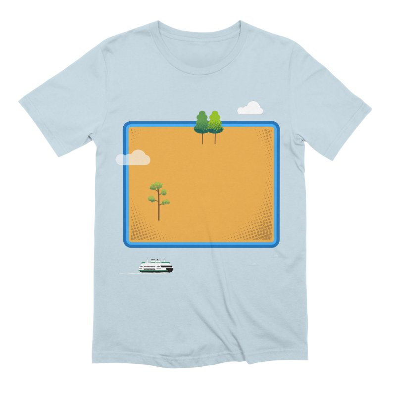 Wyoming Island Men's Extra Soft T-Shirt by Illustrations by Phil