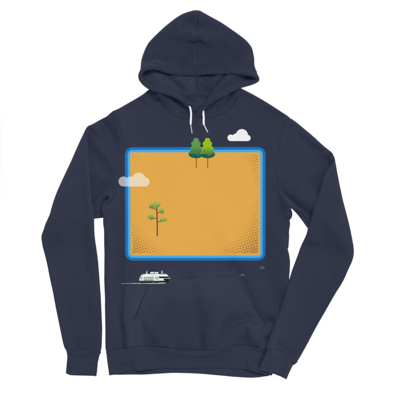 Wyoming Island Women's Sponge Fleece Pullover Hoody by Illustrations by Phil