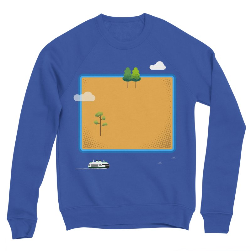 Wyoming Island Women's Sponge Fleece Sweatshirt by Illustrations by Phil