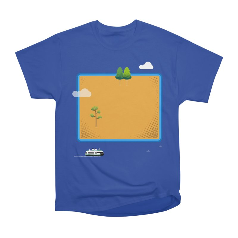 Wyoming Island Women's Heavyweight Unisex T-Shirt by Illustrations by Phil
