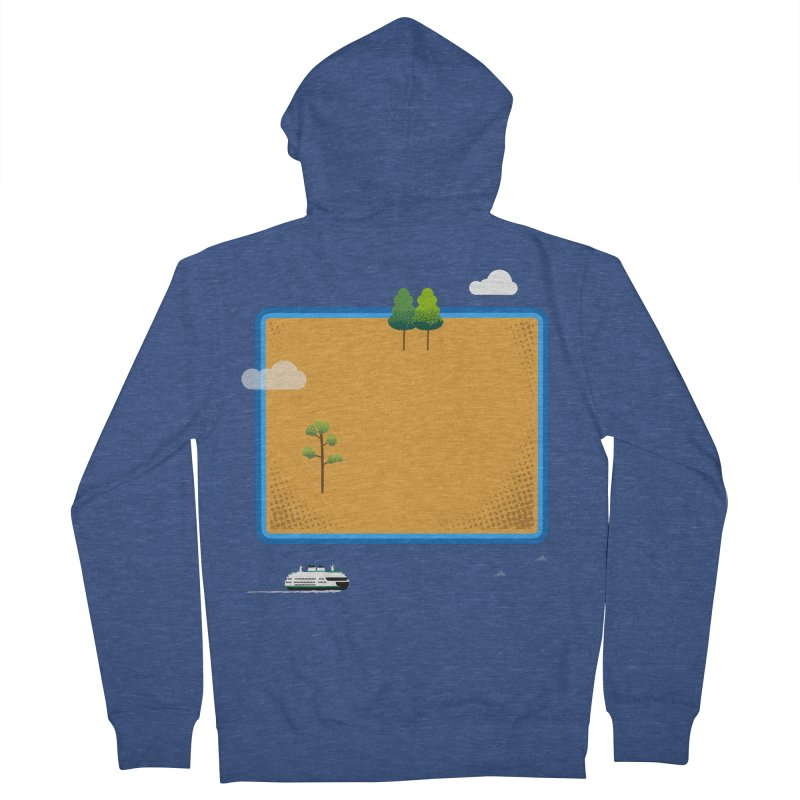 Wyoming Island Women's French Terry Zip-Up Hoody by Illustrations by Phil