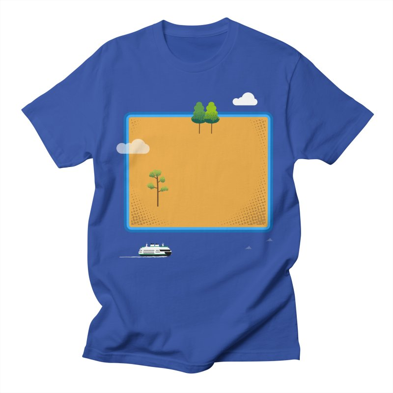 Wyoming Island Women's Regular Unisex T-Shirt by Illustrations by Phil