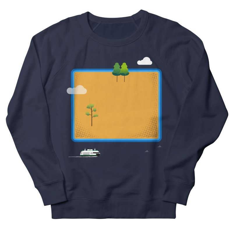 Wyoming Island Women's French Terry Sweatshirt by Illustrations by Phil