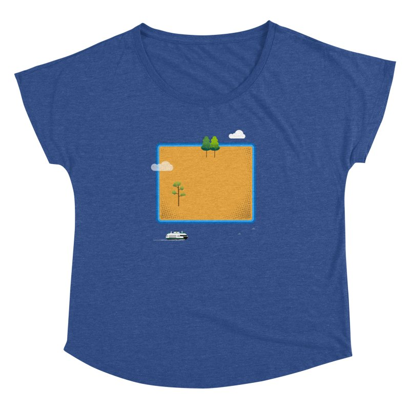 Wyoming Island Women's Dolman Scoop Neck by Illustrations by Phil