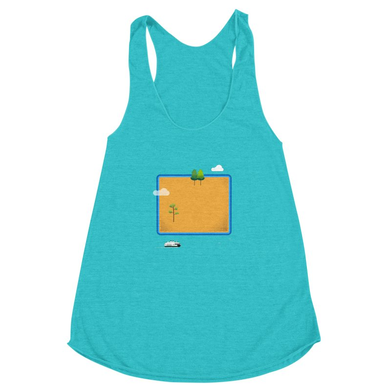 Wyoming Island Women's Tank by Illustrations by Phil