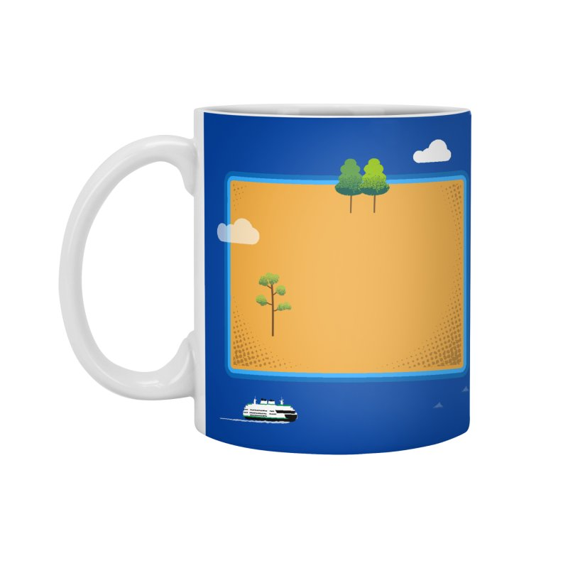 Wyoming Island Accessories Standard Mug by Illustrations by Phil