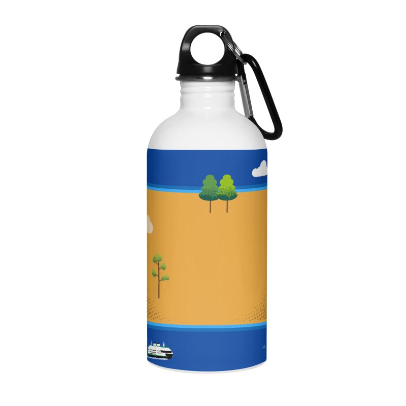 Wyoming Island Accessories Water Bottle by Illustrations by Phil