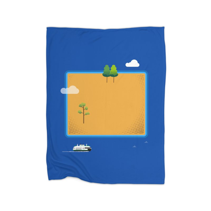 Wyoming Island Home Blanket by Illustrations by Phil