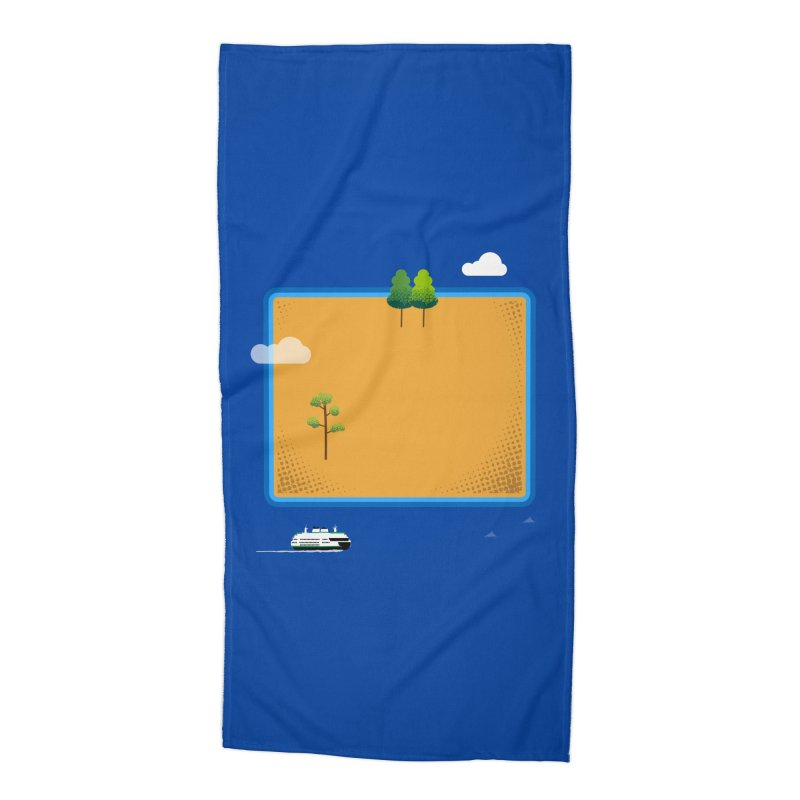 Wyoming Island Accessories Beach Towel by Illustrations by Phil