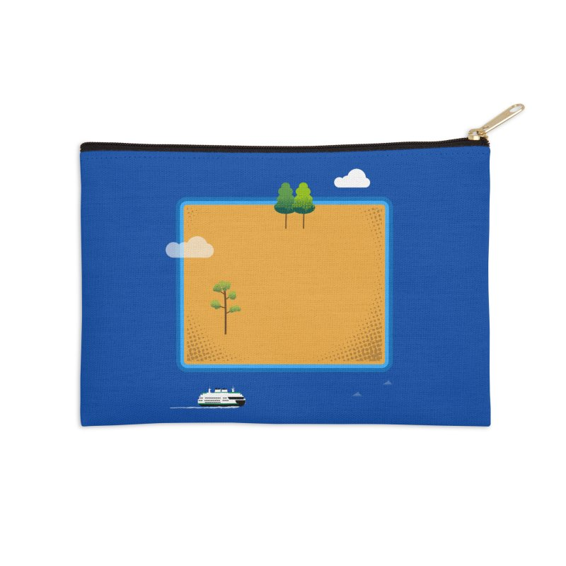 Wyoming Island Accessories Zip Pouch by Illustrations by Phil