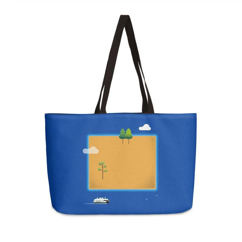 Wyoming Island Accessories Weekender Bag Bag by Illustrations by Phil