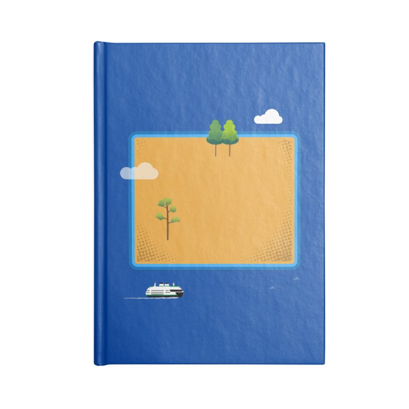 Wyoming Island Accessories Lined Journal Notebook by Illustrations by Phil
