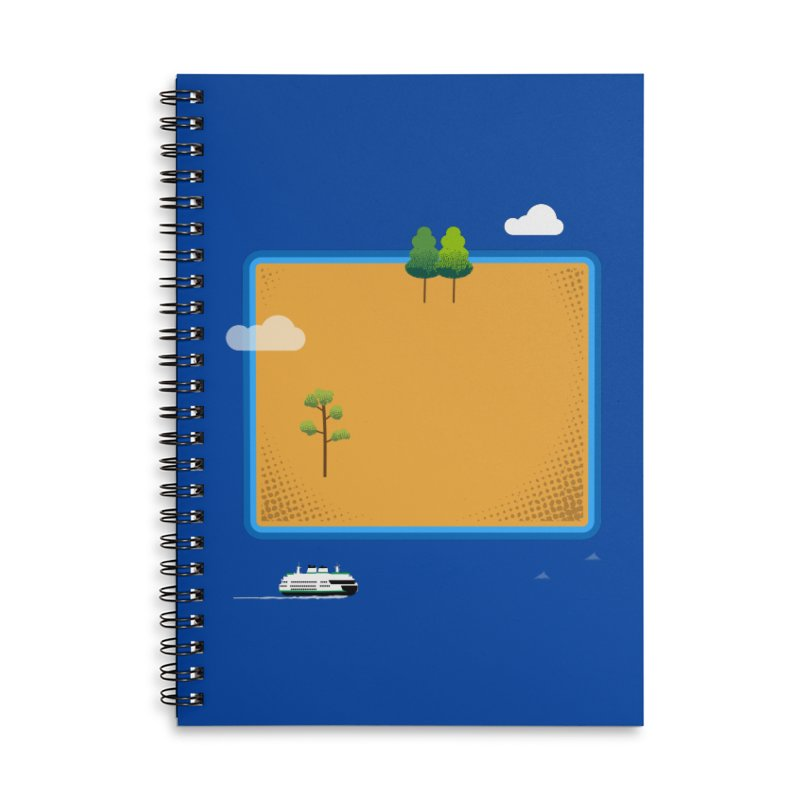 Wyoming Island Accessories Lined Spiral Notebook by Illustrations by Phil