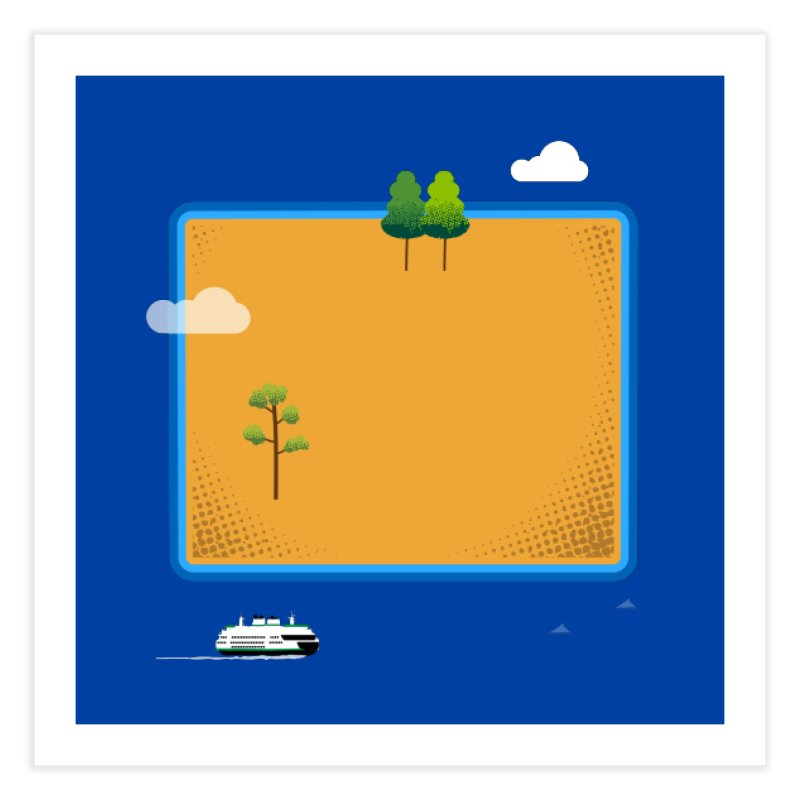 Wyoming Island Home Fine Art Print by Illustrations by Phil