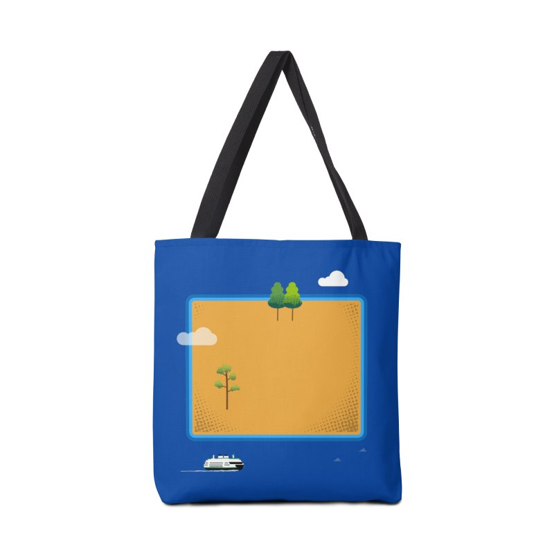 Wyoming Island Accessories Bag by Illustrations by Phil