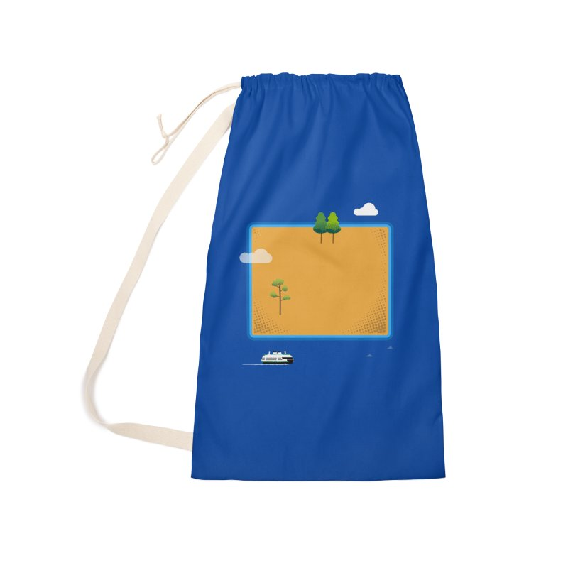 Wyoming Island Accessories Laundry Bag Bag by Illustrations by Phil