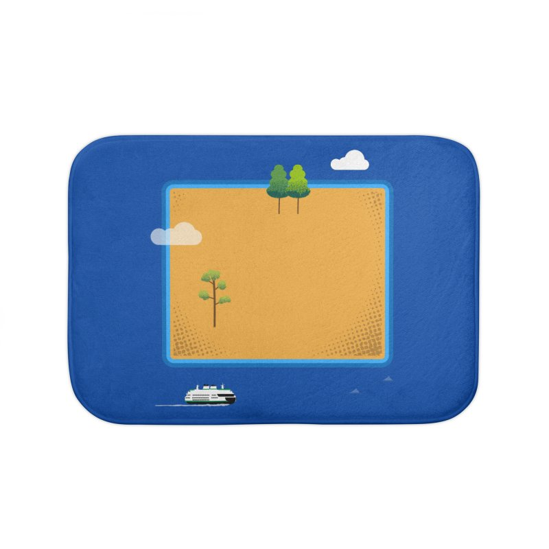 Wyoming Island Home Bath Mat by Illustrations by Phil
