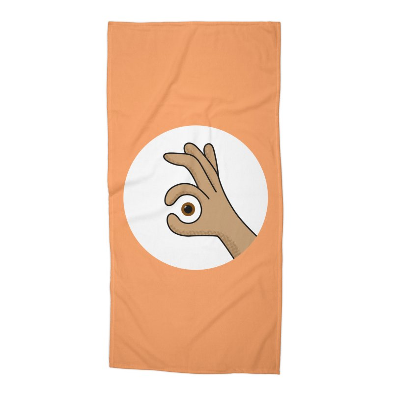 Eye See You Accessories Beach Towel by Illustrations by Phil