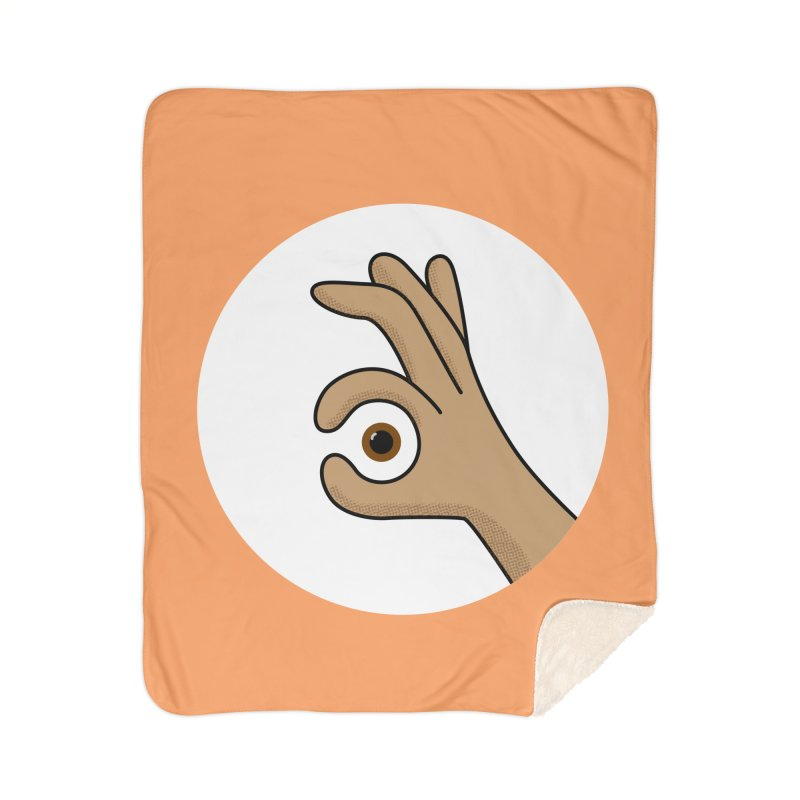 Eye See You Home Sherpa Blanket Blanket by Illustrations by Phil