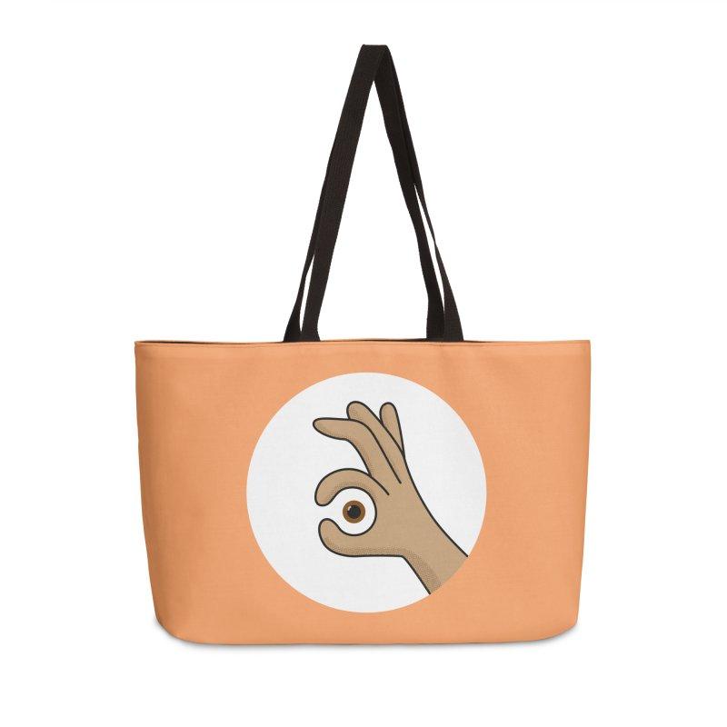 Eye See You Accessories Weekender Bag Bag by Illustrations by Phil