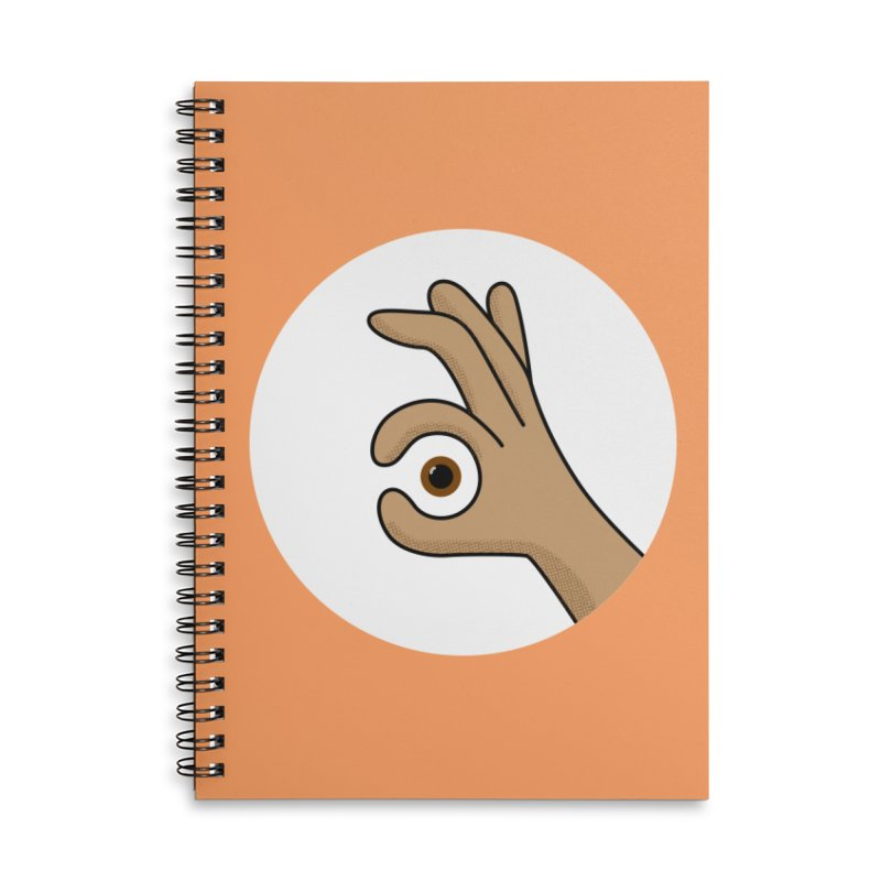 Eye See You Accessories Lined Spiral Notebook by Illustrations by Phil