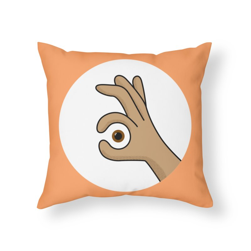 Eye See You Home Throw Pillow by Illustrations by Phil