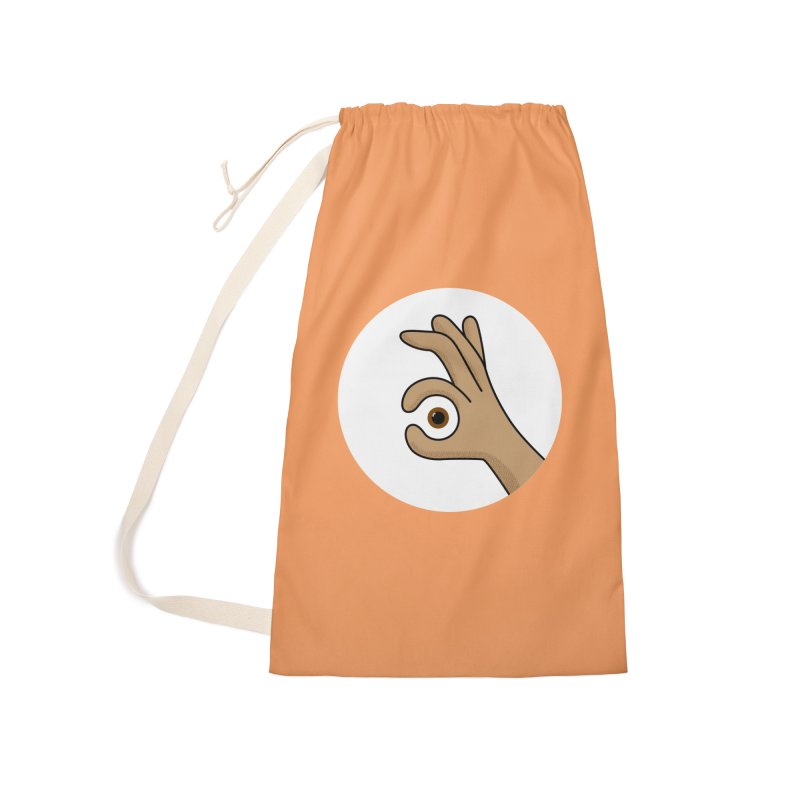 Eye See You Accessories Laundry Bag Bag by Illustrations by Phil