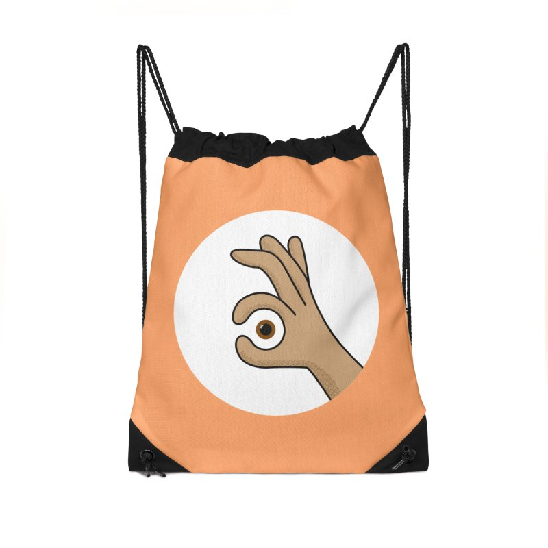 Eye See You Accessories Drawstring Bag Bag by Illustrations by Phil
