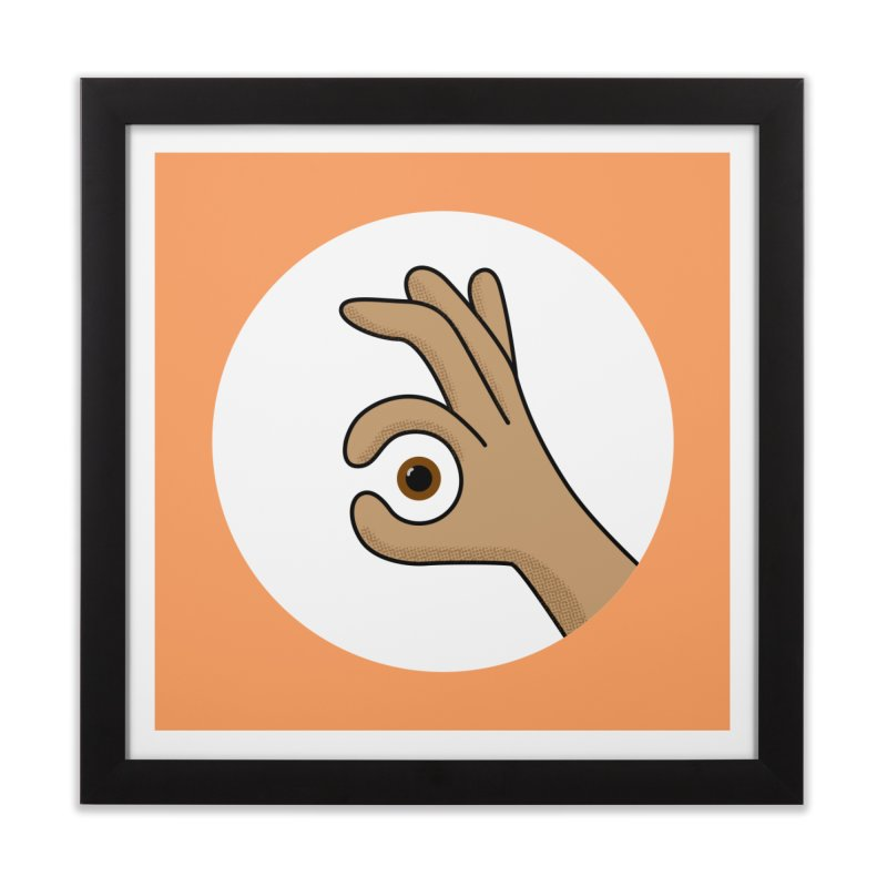 Eye See You Home Framed Fine Art Print by Illustrations by Phil