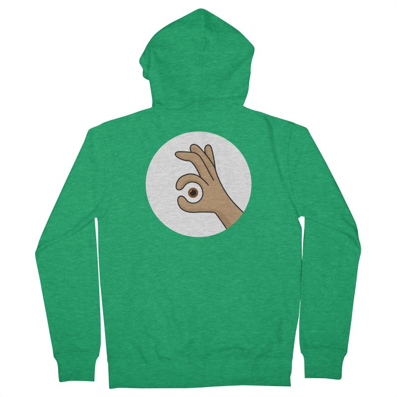 Eye See You Men's French Terry Zip-Up Hoody by Illustrations by Phil