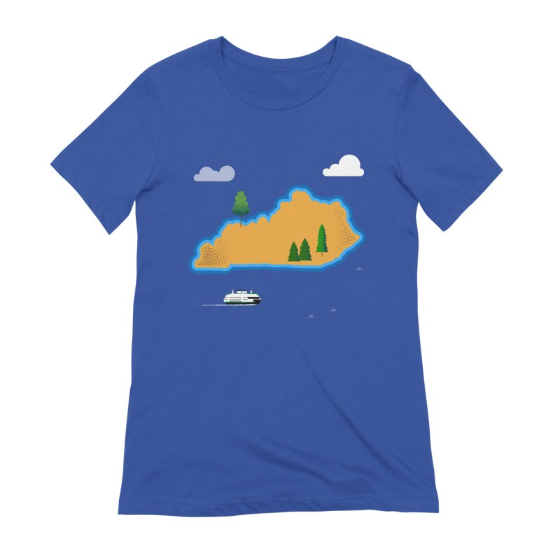 Kentucky Island Women's Extra Soft T-Shirt by Illustrations by Phil