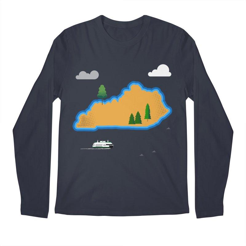 Kentucky Island Men's Longsleeve T-Shirt by Illustrations by Phil
