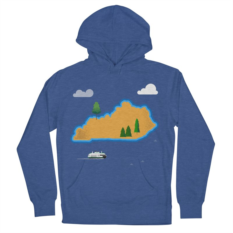 Kentucky Island Men's French Terry Pullover Hoody by Illustrations by Phil