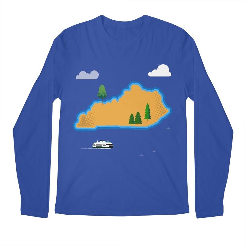 Kentucky Island Men's Regular Longsleeve T-Shirt by Illustrations by Phil