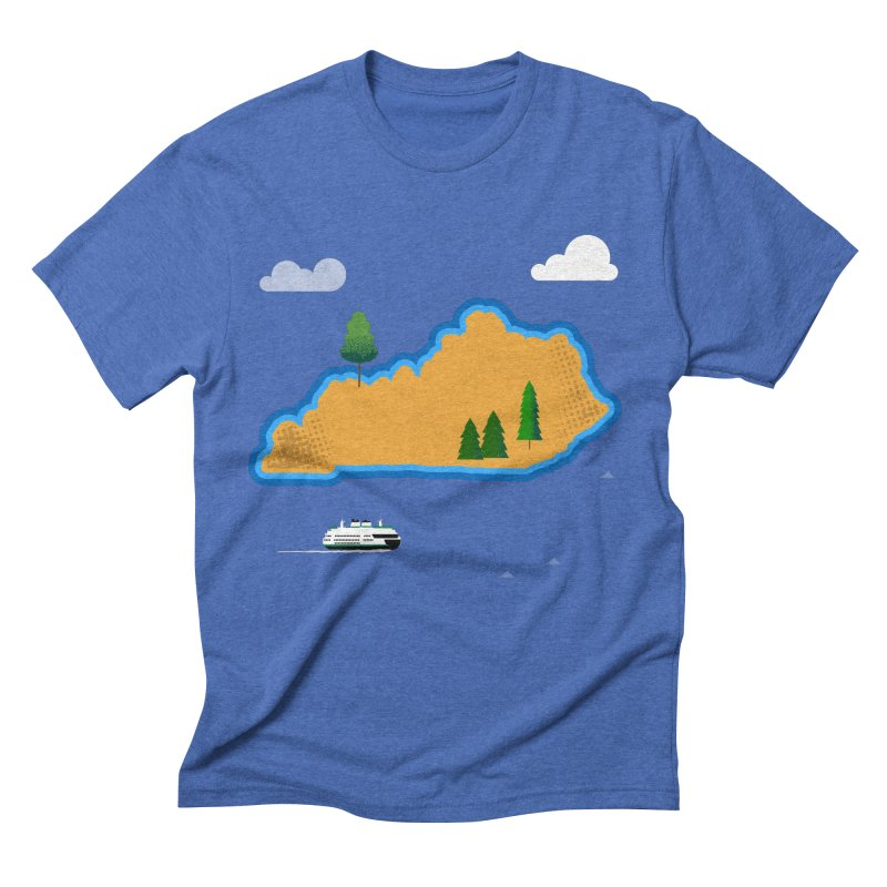 Kentucky Island Men's Triblend T-Shirt by Illustrations by Phil