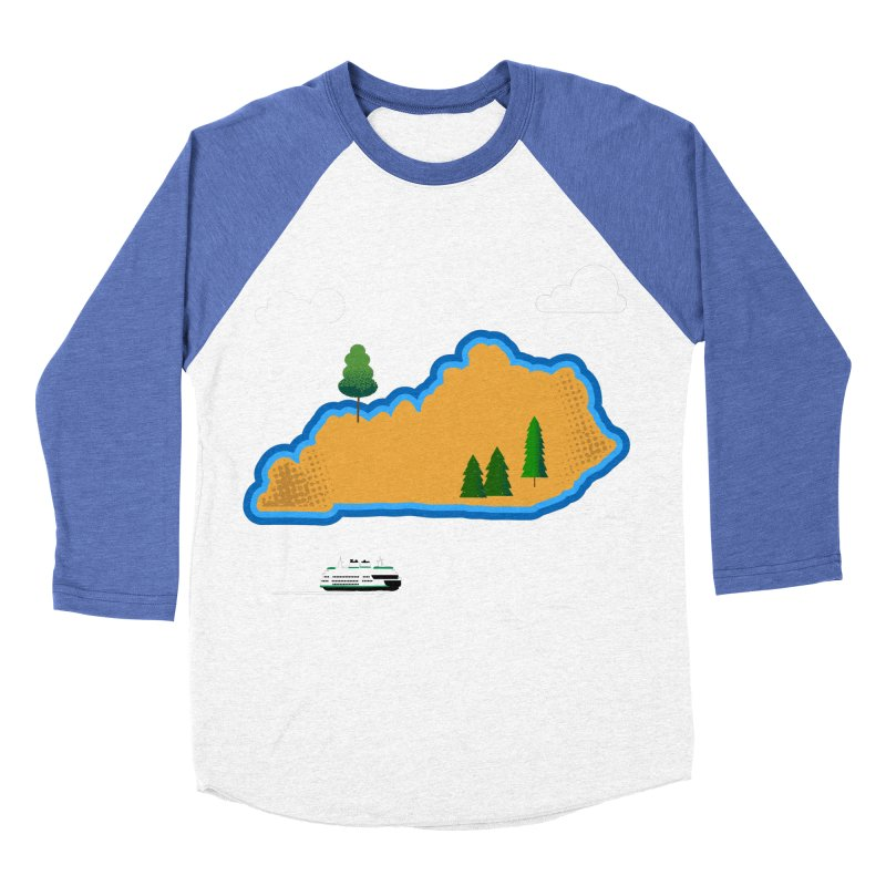 Kentucky Island Women's Baseball Triblend Longsleeve T-Shirt by Illustrations by Phil