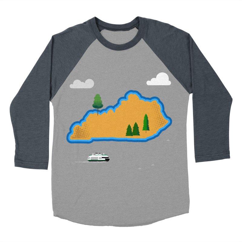 Kentucky Island Women's Baseball Triblend Longsleeve T-Shirt by Illustrations by Phil