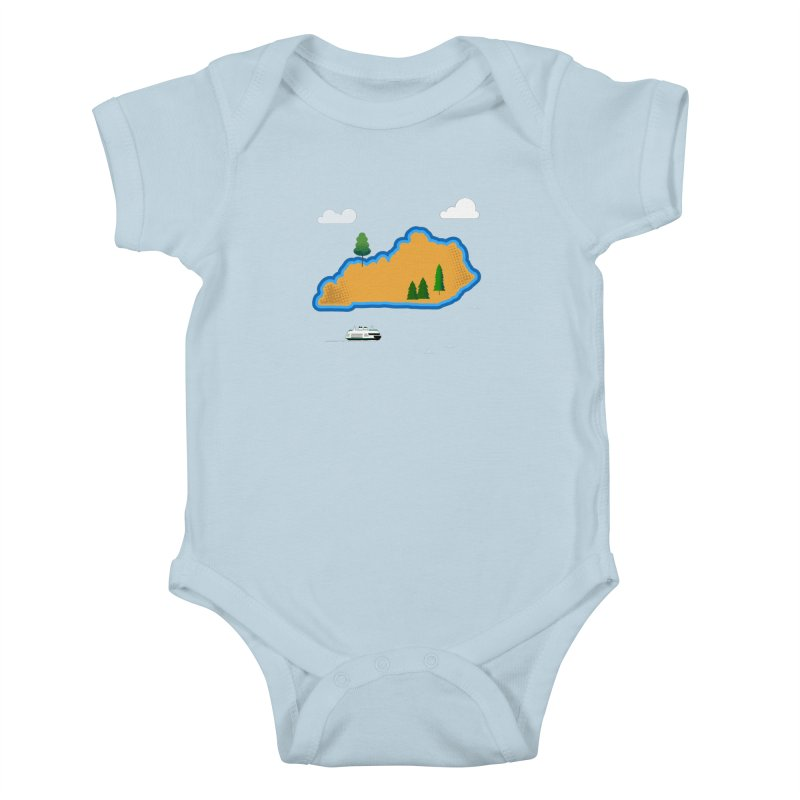 Kentucky Island Kids Baby Bodysuit by Illustrations by Phil