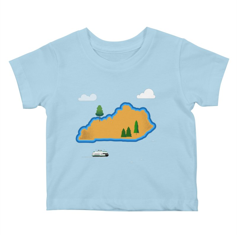 Kentucky Island Kids Baby T-Shirt by Illustrations by Phil