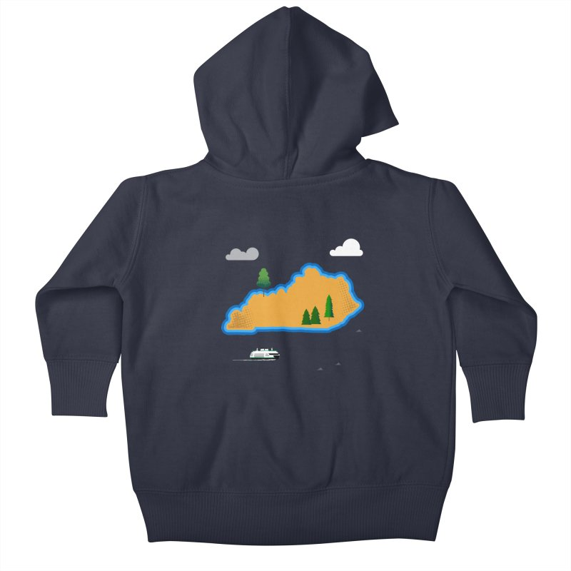 Kentucky Island Kids Baby Zip-Up Hoody by Illustrations by Phil