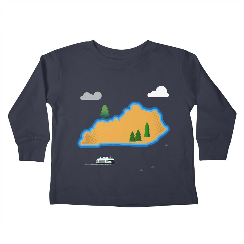 Kentucky Island Kids Toddler Longsleeve T-Shirt by Illustrations by Phil