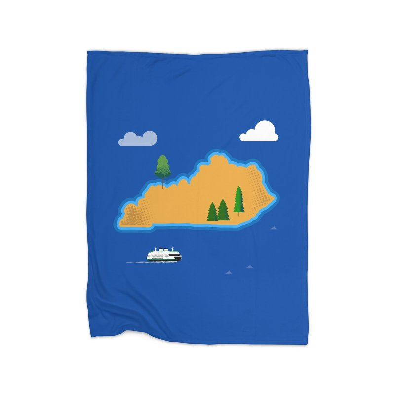 Kentucky Island Home Blanket by Illustrations by Phil