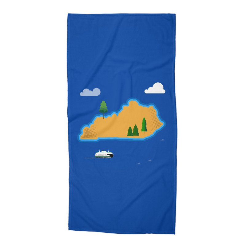 Kentucky Island Accessories Beach Towel by Illustrations by Phil