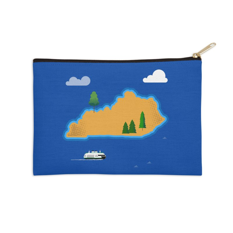 Kentucky Island Accessories Zip Pouch by Illustrations by Phil