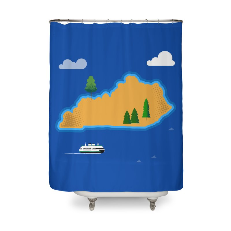 Kentucky Island Home Shower Curtain by Illustrations by Phil