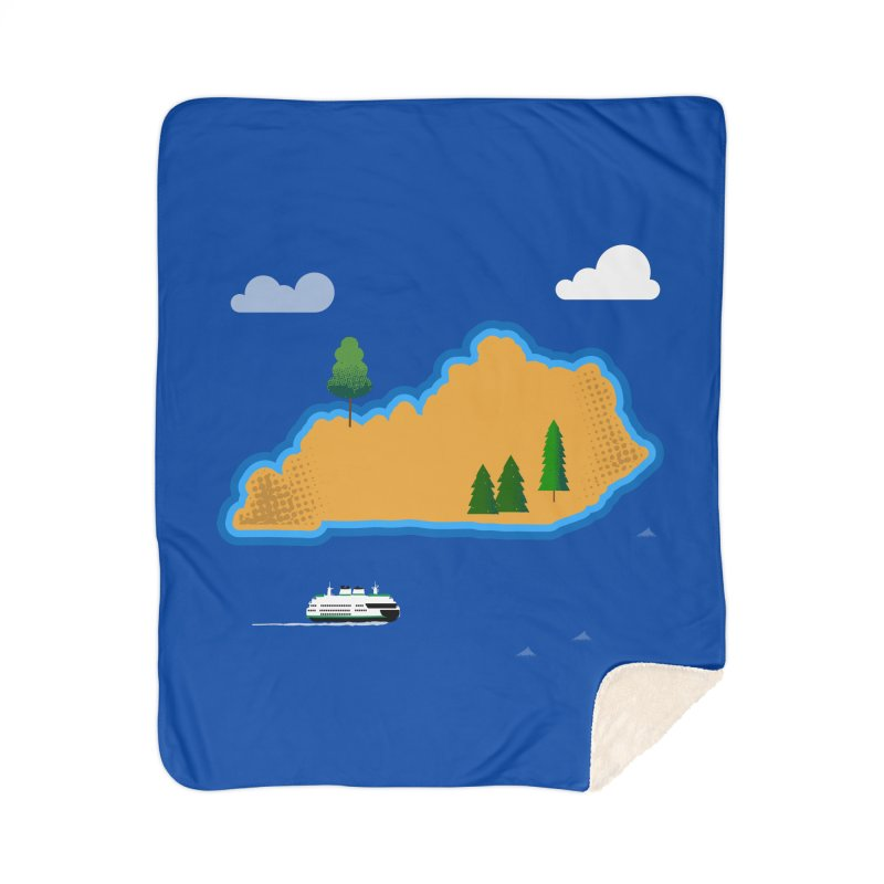 Kentucky Island Home Sherpa Blanket Blanket by Illustrations by Phil
