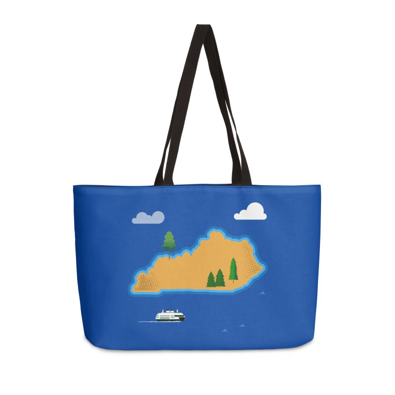 Kentucky Island Accessories Weekender Bag Bag by Illustrations by Phil
